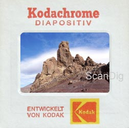 Kodachrome slide in the typical paper frame